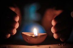 Be the wick of hope in the darkness around you... 😇 (muditbisht96) Tags: dark black hope light abstract wick lights diwali hands festival india happiness nikon primelens d5200 candle flikr flicker flickering