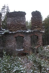 Harrisville, NJ (elisecavicchi) Tags: ruin remain brick building outside pine barrens pitch bright mood still view angle explore new jersey nj harrisville ghost town paper mill bleak cold discover dark window woods forest