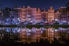 Amsterdam, so beautiful at night (karinavera) Tags: travel street nice canal longexposure amsterdam night nikond5300