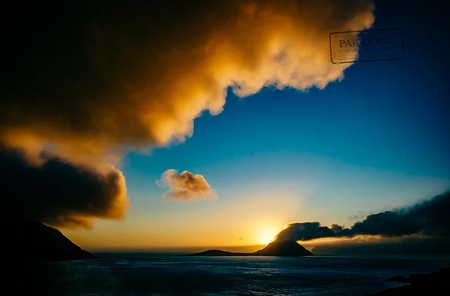 Sunset in Velbastaður - Faroe Islands