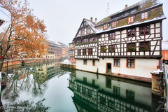 La Petite France Reflections (Loopylou2u) Tags: strasbough france lapetite canals winter europe