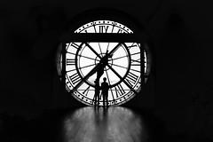 The giant #clock (Elvirounette) Tags: clock paris france museedorsay museum orsaymuseum blackandwhite