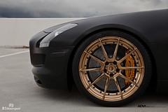 Mercedes Benz SLS AMG - ADV10 M.V2 CS (ADV1WHEELS) Tags: mercedes benz amg sls gullwing coupe luxury car supercar cars adv1 wheels gold rims