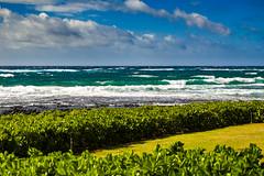 Choppy Pacific (FotoMemi) Tags: flickr kauai nikond70 poipu scenery d70 digital nikon nikkor nikondx dx nikkor28105mm pacific choppy waves clouds