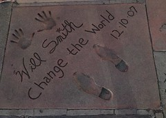 A Message from Will Smith (kmakice) Tags: handprint willsmith sidewalk hollywood chinesetheatre