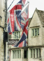 Still Patriotic (Paul *) Tags: england still union cotswolds flags hanging british nowind tetbury