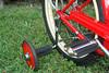 "C08522 (centerprairie) Tags: red 1948 bicycle stand tank wheels balloon ivory tire chrome spitfire brake pedals handlebar horn schwinn coaster juvenile rods 1949 saddle dx truss traing grips bendix 20"""