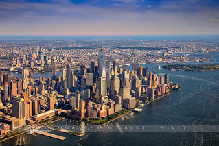 High over Lower Manhattan