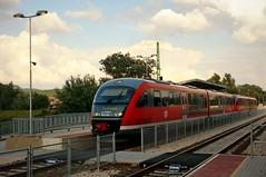The train pulls in (elinor04 thanks for 36,000,000+ views!) Tags: county red station train hungary budapest railway line railwaystation around 20 pest augusztus máv 2015 renewed vonat vasút megye vasútállomás siemensdesiro solymár felújított solymári máv6342 budapestesztergom