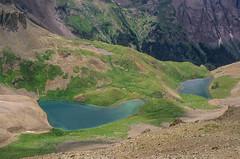 Bluer (α RAINYNEPTUNUS ω) Tags: blue mountain lake mountains film analog forest dallas san colorado peak hike basin velvia alpine sanjuans 50 bluelake sanjuanmountains juans rvp dallaspeak mtsneffelswilderness