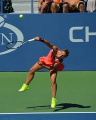 Errani serves (ajwphoto56) Tags: new york city nyc us sara open tennis errani