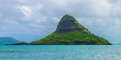 Mokoli'i Island (telazac) Tags: blue green water hat clouds canon island hawaii us unitedstates pacific kaneohe tropical windward chinaman kualoa chinamanshat mokolii ocrean kualoaregionalpark canon7d