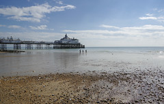 Strollers At Low Tide (grahambrown1965) Tags: sea beach water sussex pier seaside pentax shore eastbourne seafront eastsussex eastbournepier smcpentaxda1645mmf4edal pentaxk3ii k3ii