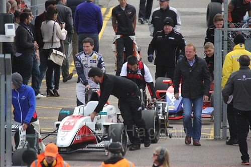 Will Palmer's ART Junior Racing car heads to the grid for the first Renault 2.0 race at Silverstone 2015