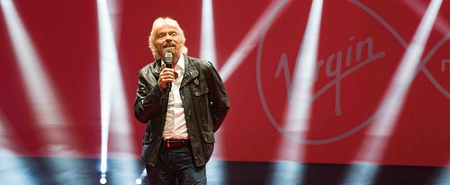 RICHARD BRANSON LAUNCHES VIRGIN MEDIA AT THE RDS [UPC REBRANDED AS VIRGIN]REF-10858516
