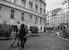 Tourists in the Roman Jewish District (nick88msn) Tags: street italien italy rome roma history geotagged ancient europa europe long italia strasse sony 28mm tourists stadt jewish f2 rom coordinates a7 position lat distant jewishghetto 2015 sonya7 ilce7