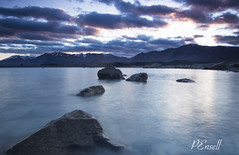 Lake Tekapo (PJEnsell) Tags: new blue lake mountains sunrise canon rocks zealand serene tranquil tekapo waterscape 600d tokina1116