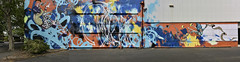 The big picture (J-C-M) Tags: street urban panorama streetart art wall painting graffiti artwork mural paint grafitti australia melbourne wallart victoria panoramic spray kensington aerosol stitched slicer lucylucy