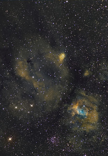 NGC 7635 Region,  The Bubble  in Narrowband