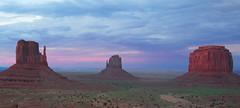 Monument Colors (D. Scott Taylor) Tags: blue arizona sky green outdoors utah desert sundown magenta monumentvalley buttes