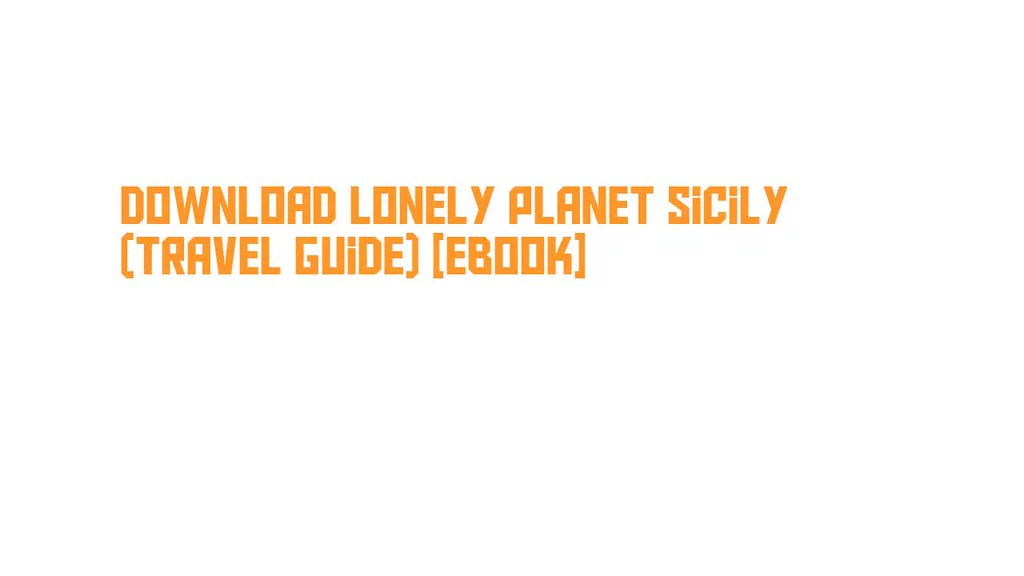 lonely planet sicily pdf free download