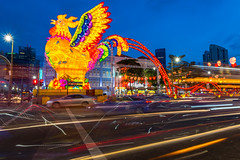 Chinatown Singapore (BP Chua) Tags: rooster chicken lantern singapore chinatown canon 7d2 trails lighttrails cars colors colorful bluehour longexposure