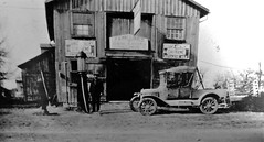 Peter MacDonald's Blacksmith shop with gas pump, c. 1925 (Will S.) Tags: mypics museum archives peelcountyjail brampton ontario canada oldbuildings oldarchitecture peelcounty heritage history peelregion peelartgallerymuseumarchives old peelcountycourthouse peelcountyregistry countyregistry countyjail countycourthouse peel