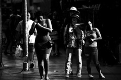 On the Edge  !!!!!! (imagejoe) Tags: vegas nevada strip street black white photography photos shadows reflections people