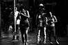 On the Edge  !!!!!! (imagejoe) Tags: vegas nevada strip street black white photography photos shadows reflections people