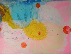 DSC0966883 (scott_waterman) Tags: scottwaterman painting paper ink watercolor gouache lotus lotusflower blue bluehue