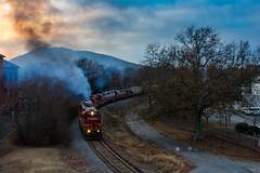 Grain train at Dusk (Kyle Yunker) Tags: gnrr georgia northeastern railroad emd gp38 grain train marietta