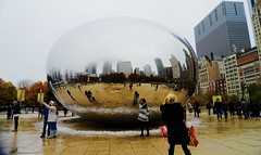 Fun at the Bean - Chicago IL (Meridith112) Tags: milleniumpark park il illinois chicago cookcounty winter december 2016 reflection reflections bean cloudgate flickrgroupmeetup flickrmeetup wscf westsuburbanchicagoflickrers westernsuburbanchicagoflickr nikon nikon2485 nikond610 people snow fog photowalk1252016