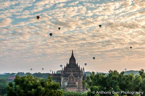 Hot Air Ballooons over Bagan, Myanmar