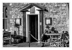 Liquid Refreshment (Ken Walker Photography) Tags: sunshine shadows stamford urban blackandwhite pub publichouse pint
