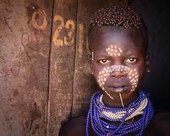 ethiopia - omo valley (mauriziopeddis) Tags: africa ethiopia etiopia ritratto portrait karo intense tribe tribù reportage tribal