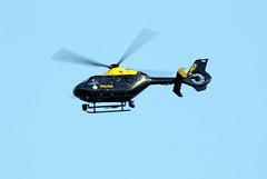 G-HEOI flythrough. (aitch tee) Tags: cardiffairport aircraft helicopter policehelicopter gheoi flythrough cwlegff maesawyrcaerdydd walesuk