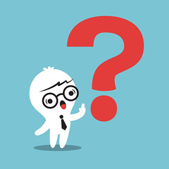 man with Question mark (ngu gat) Tags: question mark sign red cartoon symbol problem answer character human guy business ask idea abstract icon man pose businessman clean clipart vector isolated kawaii think confusion eureka