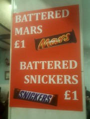Battered Mars Battered Snickers (Stuart Axe) Tags: mars snickers chocolate snickersbar marsbar sign £1 chelmsford essex uk england gb greatbritain unitedkingdom chocolatebar battered batteredmarsbar batteredsnickersbar takeaway cellphone blurry outoffocus countytown city countyofessex cityofchelmsford