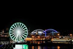 Seattle Arenas (YuriZhuck) Tags: us usa wa washington seattle arena stadium wheel waterfront night light city