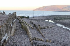 Cold Afternoon at the Weir (grigorisgirl) Tags: sea beach harbour stones groynes bossingtonhill cold porlockweir exmoor somerset bristolchannel lowtide