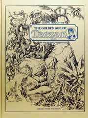 """Burne Hogarth's """"The Golden Age of Tarzan: 1939-1942."""" NY: Chelsea House, 1977. Limited first edition. (lhboudreau) Tags: book books hardcover hardcovers hardcoverbook hardcoverbooks coverart bookart art artwork drawings illustrations burroughs edgarriceburroughs erburroughs tarzancomics tarzancomicstrip tarzan comicstrips hogarth burnehogarth goldenage thegoldenageoftarzan sundaycomics sundaycomicstrips 19391942 kingsizedvolume comics illustration drawing sketch fullcolor chelseahouse mauricehorn firstedition limitededition signededition goldenageoftarzan 1977 apeman folio oversized newspapercomics sketches newspapercomicstrips comicspage comicspages comicstrip comicpage chelseahousepublishers"""