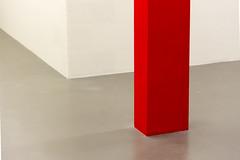 Red pillar (on Explore) (Jan van der Wolf) Tags: map16677ve pillar pilaar column zuil grey red rood redrule vloer floor wall corner hoek lines muur minimalism minimalistic minimalisme minimal minimlistic museum simple simpel wittedewithcenter wittedewith
