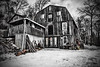IMG_0008 (Silverio Photography) Tags: blackandwhite blackwhite rustic barn canon 60d 1770 sigma ashby massachuetts newengland winter photoshop elements topaz adjust hdr