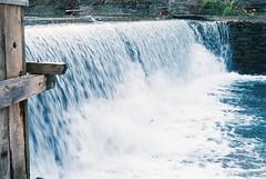 Waterfall at Morningstar Mill (edwardburciul) Tags: nikon em 35mmf 35mm film fall leaves morning star mill stcatharines ontario eater waterfall autumn