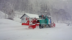 MCR600 Snow Clearance Locomotive, Japan. (ManOfYorkshire) Tags: train railway snow clearance snowplow plow blower rotary fight japan railways winter necessity options attachments working mountains rotaywipers rotarywindscreenwipers
