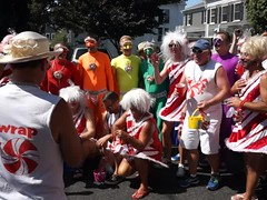 Pre Carnival Parade, Provincetown MA (Boston Runner) Tags: carnival costume video singing provincetown massachusetts group candycane candyland lifesavers 2015 hardcandy candymancan