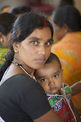 Portraits (The White Ribbon Alliance) Tags: mothers stare serious traditionalclothing rural woman females india babies families wraindia wra portraits professionalphotographs whiteribbonalliance mom baby