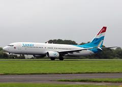 LX-LBA Boeing 737-8C9 Luxair (Keith B Pics) Tags: lg boeing pau southend sen 737 rotate luxair boeing737 lgl lfbp luxembourgairlines rugbycharter egmc lxlba wwwluxairlu