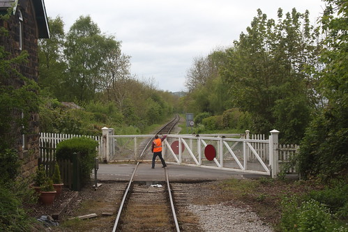 20150514 096 EVR Wirksworth. Water Lane Level Crossing. Direction Idridgehay