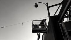Man at work (blondinrikard) Tags: man up work göteborg labor manatwork working labour worker laborador laborer kran atwork arbete workingman upp labourer yrke knog skylift upthere rosenlund göteborgenergi travaille doinghisthing uppe energi nofa arbetare kneg arbetar rosenlundsverket